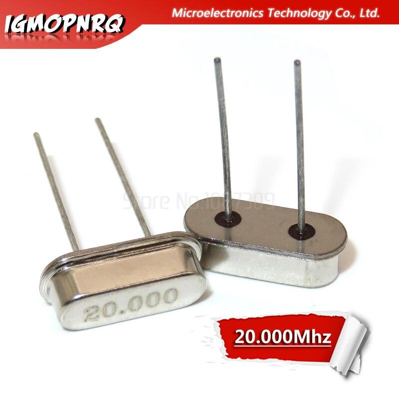 10pcs 20MHz 20.000M Resonator Passive Crystal Oscillator Quartz HC-49S New