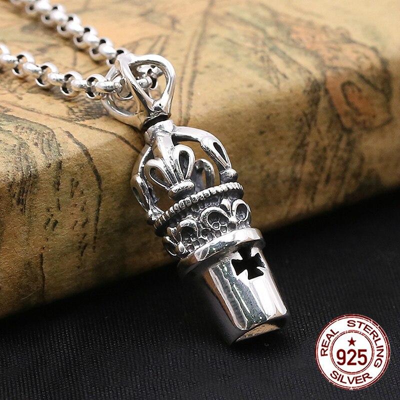 S925 sterling silver hänge personlighet mode klassiska smycken retro ... 4abb1a9cc3f44