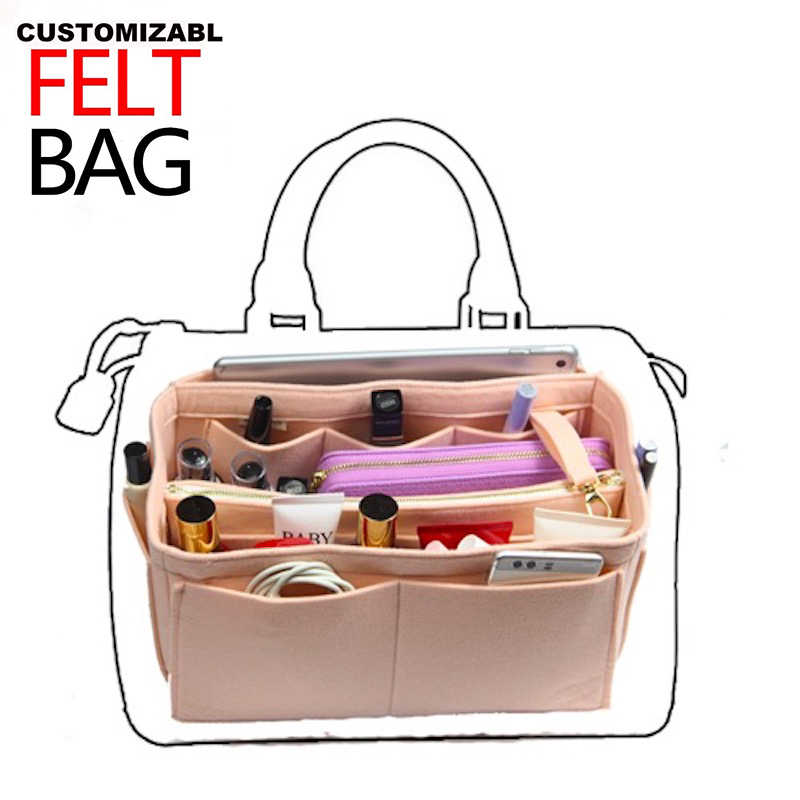 c83db9db6de1 Organizer Bag Felt Bag Purse Organizer Handbag Tote Bag in Bag Speedy 25 30  35 40 Neverfull MM GM PM w/Detachable Zip Pocket