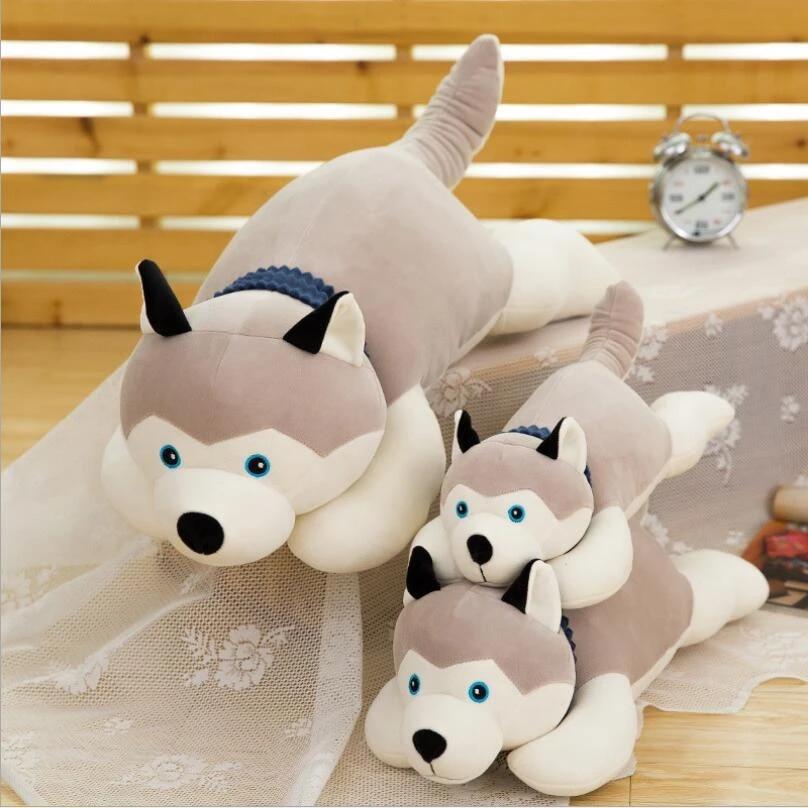 This Is Fine Dog Stuffed Animal, New Arrival Lying Dog Doll Husky Plush Toy Eiderdown Cotton Lovely Dog Stuffed Animal For Children Birthday Gift Stuffed Animal Dog Stuffed Animaldog Doll Aliexpress