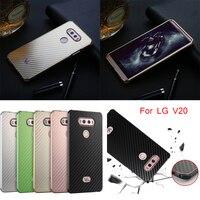For LG V20 H990N Case Aluminum Metal Frame Carbon Fiber Hard Back Cover Case For LG
