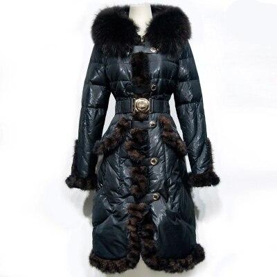 on Sale Royalcat 2017 Winter jacket women down jackets Raccoon fur Womens down coat mink fur down outerwear parkas long parka