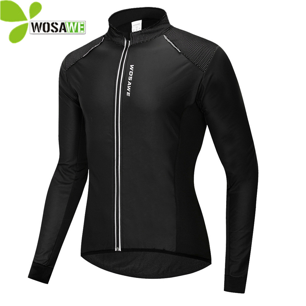 WOSAWE Thermal Fleece Winter Cycling Clothing Man Windproof MTB Clothes Wind Coat Ciclismo PU Cycle Windbreaker Bike JacketsWOSAWE Thermal Fleece Winter Cycling Clothing Man Windproof MTB Clothes Wind Coat Ciclismo PU Cycle Windbreaker Bike Jackets