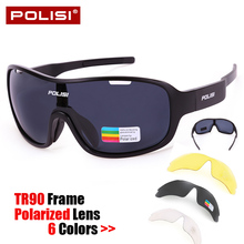 Brand TR90 Cycling Glasses Sunglasses Polarized Cycling Eyewear Outdoor Sports Glasses Ciclismo Ocalos De Sol Goggles 3 Lenes