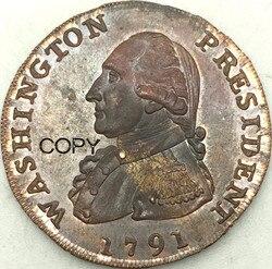 Американский президент США, Бейкер 15, медные монеты с большим орлом Cent, 1791