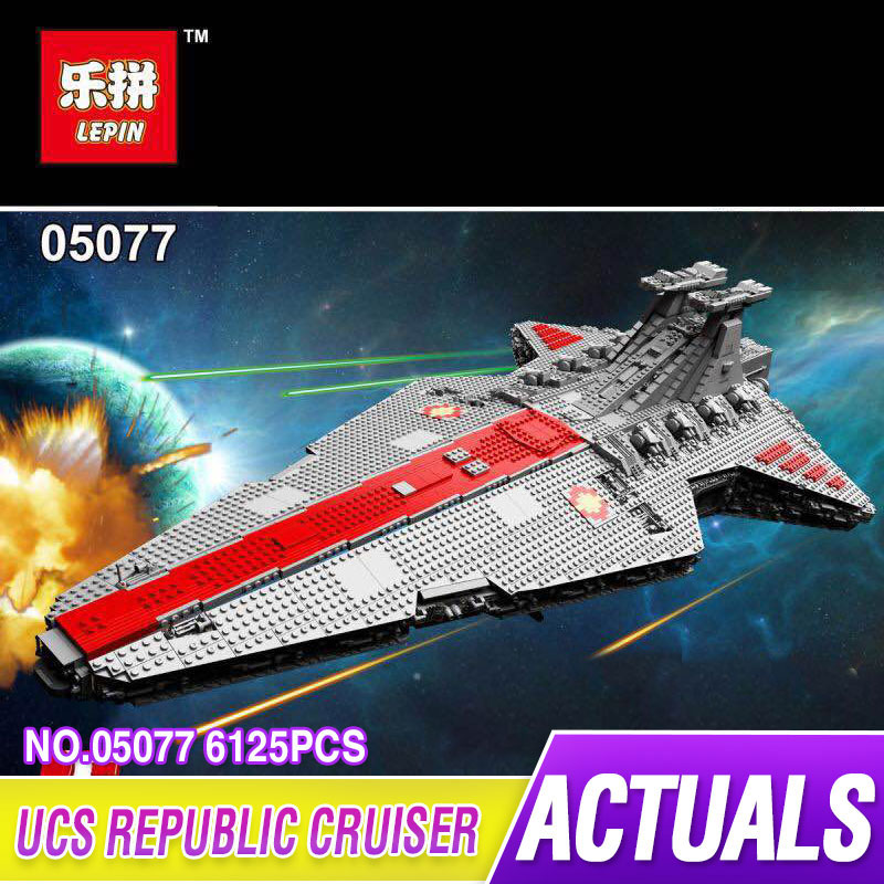 Lepin 05077 6125PCS Star Model Wars Kits The Ucs ST04 Republic Cruiser Educational Building Blocks Bricks Toys Model Gift 10179 lepin 05077 stars series war the ucs rupblic set star destroyer model cruiser st04 diy building kits blocks bricks children toys