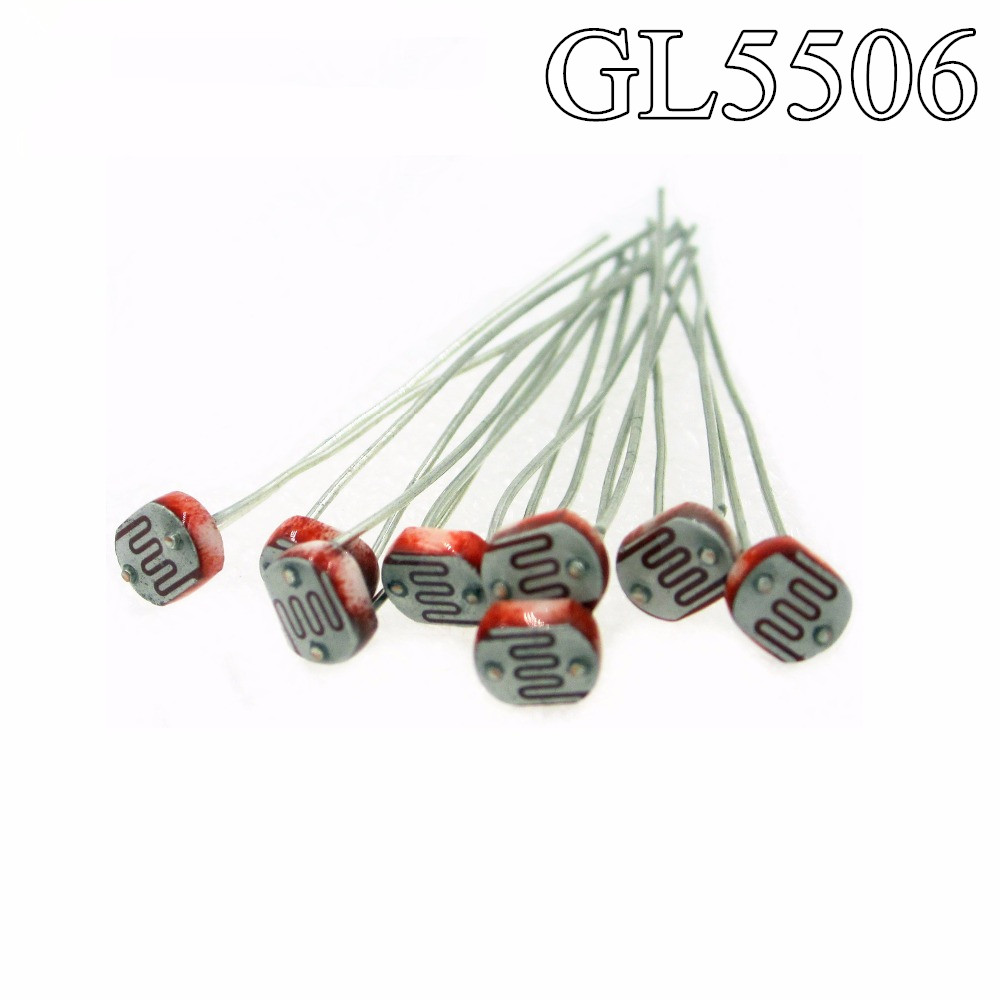 HAILANGNIAO 50pcs Photo Light Sensitive Resistor Photoresistor 5506 GL5506