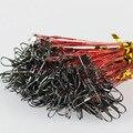 20 unids/lote 15 cm, 23 cm, 30 cm línea de pesca líder de alambre de acero con giratorio pesca accesorio 5 colores Olta Leadcore Correa FL84
