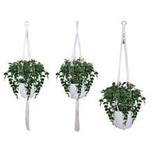 2 шт./3 шт. вешалка для растений Цветочная корзина для горшка подвесная веревка растительный держатель для наружных помещений настенное искусство садовое украшение для дома