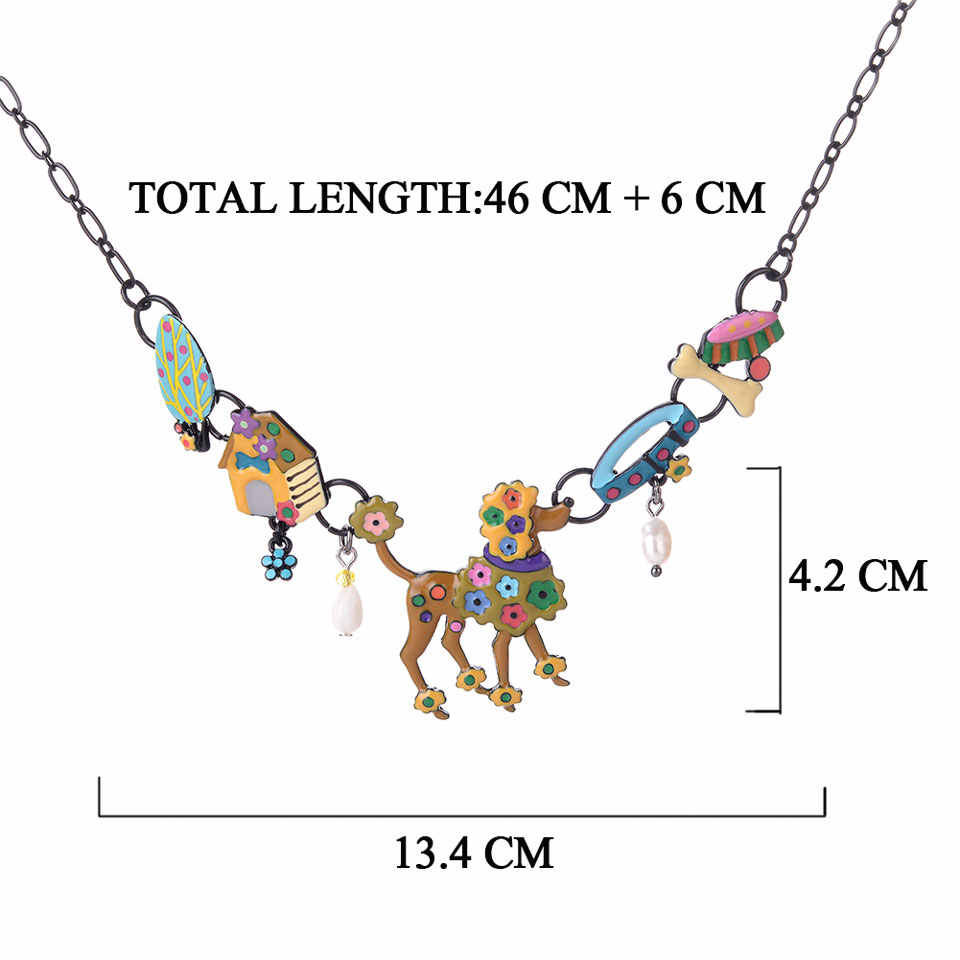 Charm Black Animal Necklace For Women Initial Statement Dog Bone Necklaces Pendants Vintage Chains Choker On The Neck Jewelry
