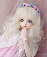 BJD doll wigs milk white Imitation mohair long curly hair wigs for 1/3 1/4 1/6 1/8 BJD DD SD MSD YOSD doll wigs doll accessories