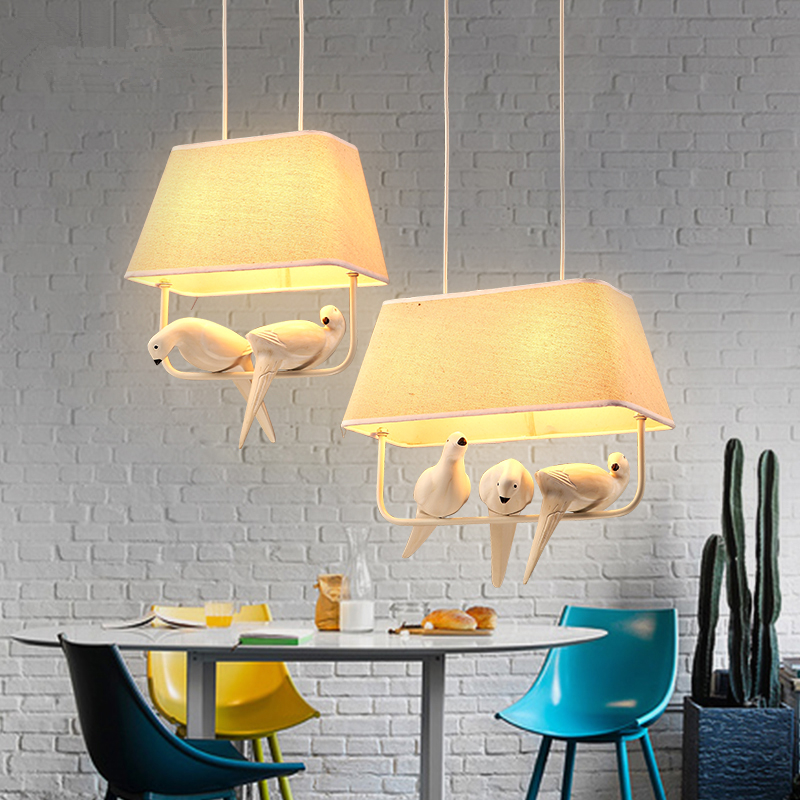 Nordic bird light living room lamps restaurant hanging lamp leisure bar cloth bedroom simple modern personality Pendant Lights a1 master bedroom living room lamp crystal pendant lights dining room lamp european style dual use fashion pendant lamps