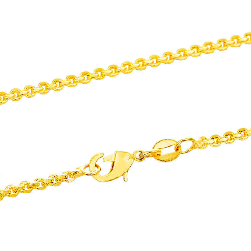 OMHXFC Wholesale European Fashion Woman Female Party Wedding Gift Long 70cm Slim Sweater Box Real 18KT Gold Chain Necklace NL12