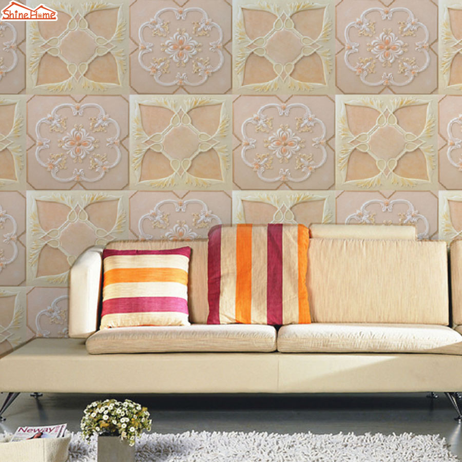 ShineHome-Soft Roll Flower Large Custom European 3D Wall Murals Contact Paper Home Decor Living Room Bedroom Wallpaper-Roll-Size shinehome butterfly nordic wall picture wallpapers 3d wallpaper for walls 3 d living room wall paper wallpaper murals roll art