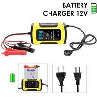 Volledige Automatische Auto Batterij Oplader 110 V 220 V Naar 12 V 6A LCD Smart Fast voor Auto motorfiets Lood-zuur Batterijen Opladen