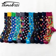 Cool Street Style Harajuku Crazy Cartoon Funny Women Casual Socks Men Short Hip Hop Socks Men Novelty Happy Cotton Colorful Socs цены