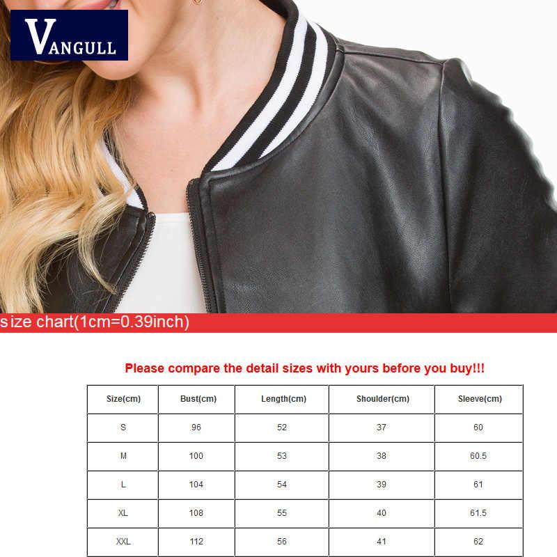 Vangull skórzane kurtki kobiety 2018 nowe czarne skórzane krótki płaszcz kobiet Faux kożuch Biker Slim kobiet Pu kurtki motocyklowe