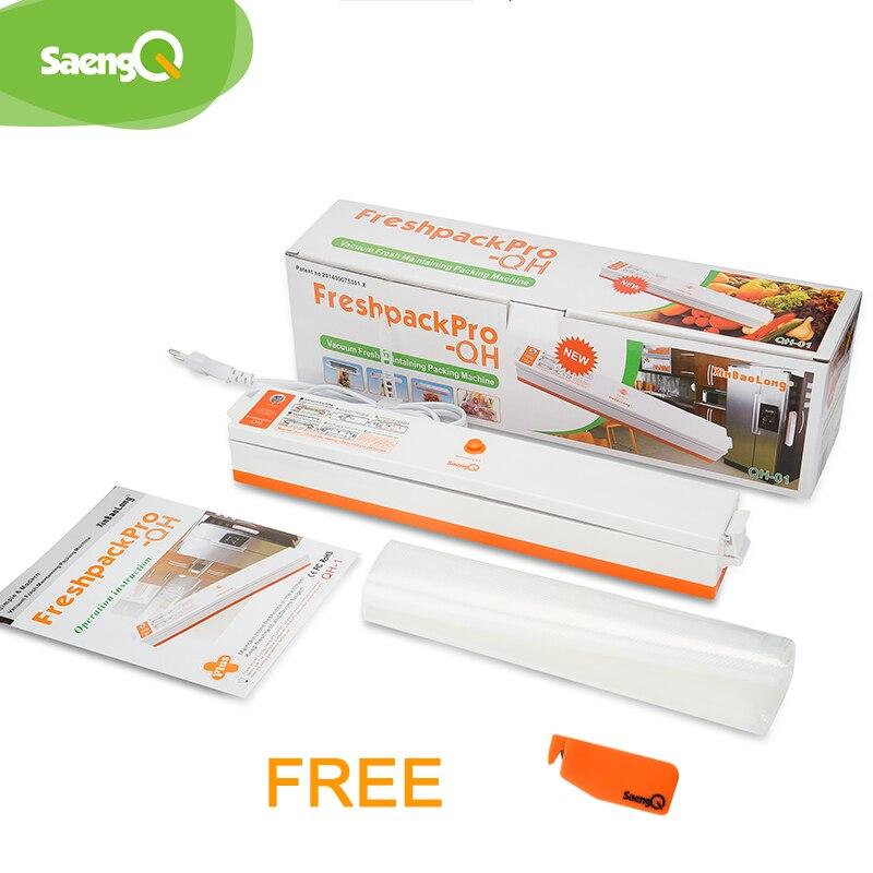 SaengQ Электрический вакуумный упаковщик, упаковочная машина для домашней кухни, в том числе 15 шт., пакеты для хранения пищевых продуктов, коммерческий Вакуумный упаковщик пищевых продуктов