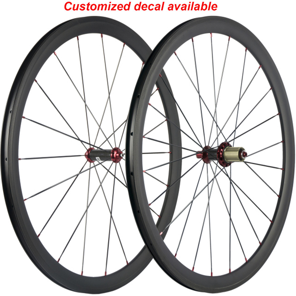 700C Road Bike Carbon Wheels 38mm Clincher Full Carbon Bicycle Wheelset Racing Bike Carbon Fiber Wheels R36 Carbon Hub