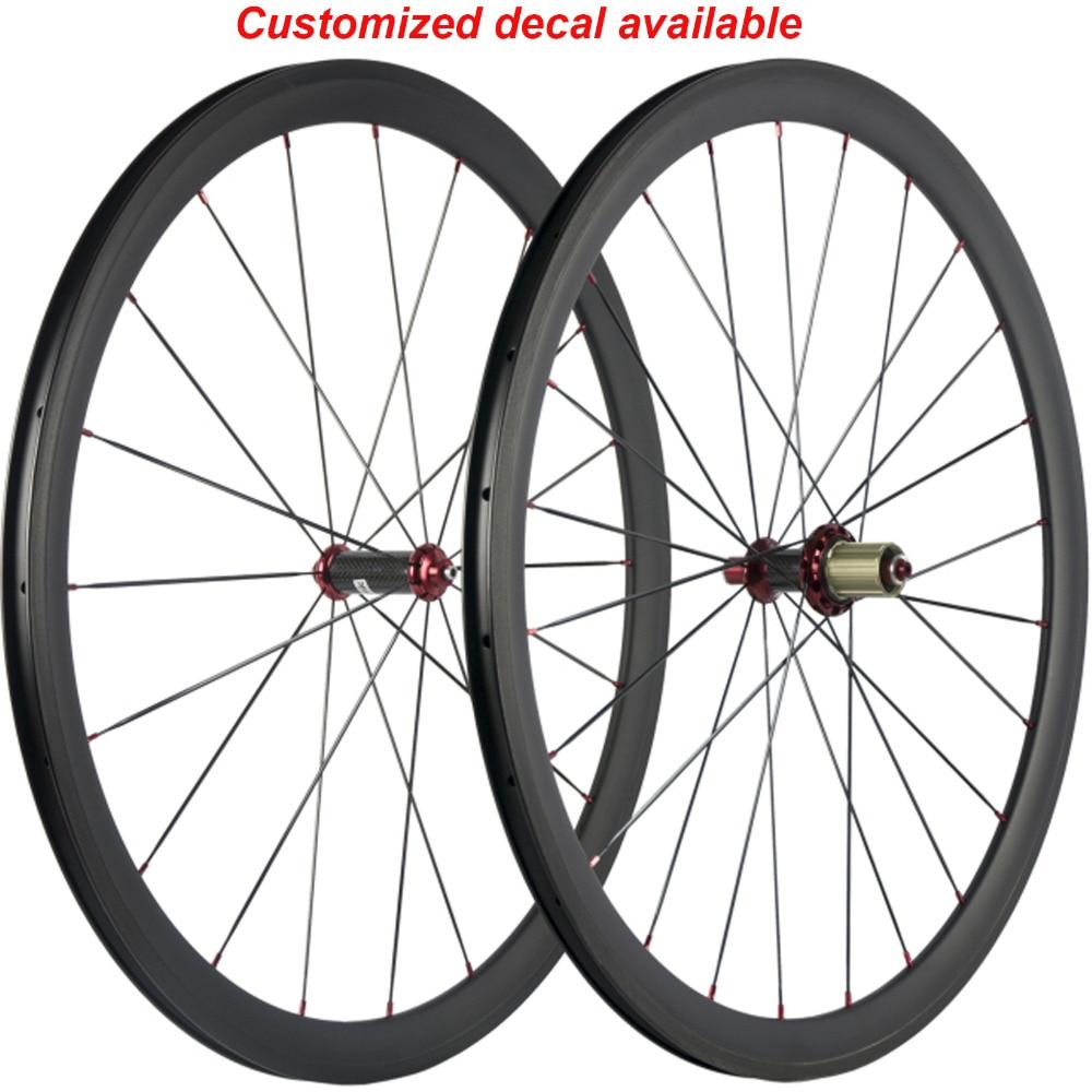 Carbon Fiber Wheels >> Us 229 0 700c Road Bike Carbon Wheels 38mm Clincher Full Carbon Bicycle Wheelset Racing Bike Carbon Fiber Wheels R36 Carbon Hub In Bicycle Wheel