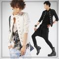 New 2015 Spring And Summer Men's Three Quarter Blazer Casual Fashion Slim Short Design Stand Collar Suit Tide / M-XL