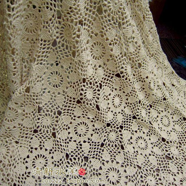 Envío libre diseño de moda europeo crochet gancho hoja colcha color ...