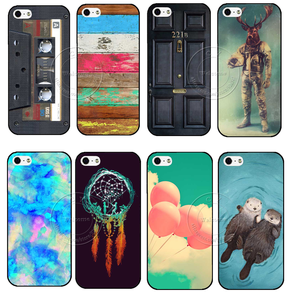 New Fashion Painted Design Luxury Hard Case Cover For Apple iPhone 5 5G 5S Free Shipping Shell Wholesale