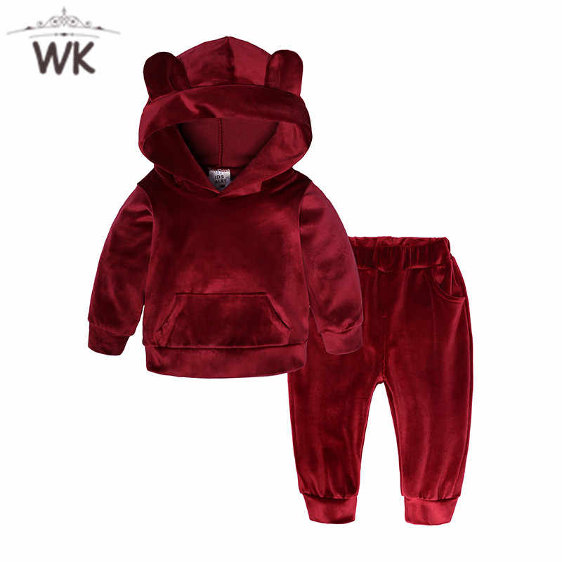 Girls Boys Clothing Sets Kids Girls Tracksuits Sport Suit fleece jacket Spring Autumn Clothes Children Casual Set 1-7T JT-368