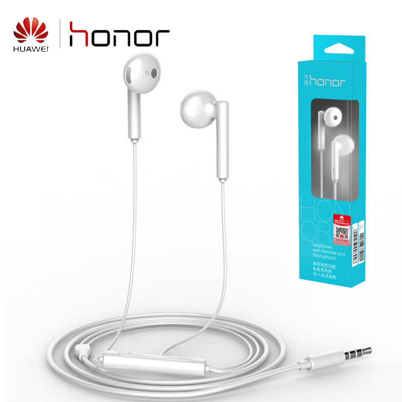HONOR AM115 Earphone Three-Button Wire-Controlled with 3.5mm Earbuds Half-in-ear (Standard Version) White Original