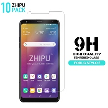 10 Pcs Tempered Glass For LG Stylo 5 Glass Screen Protector 2.5D 9H Premium Tempered Glass For LG Stylo 5 Protective Film onext tempered glass для lg class h650e защитная