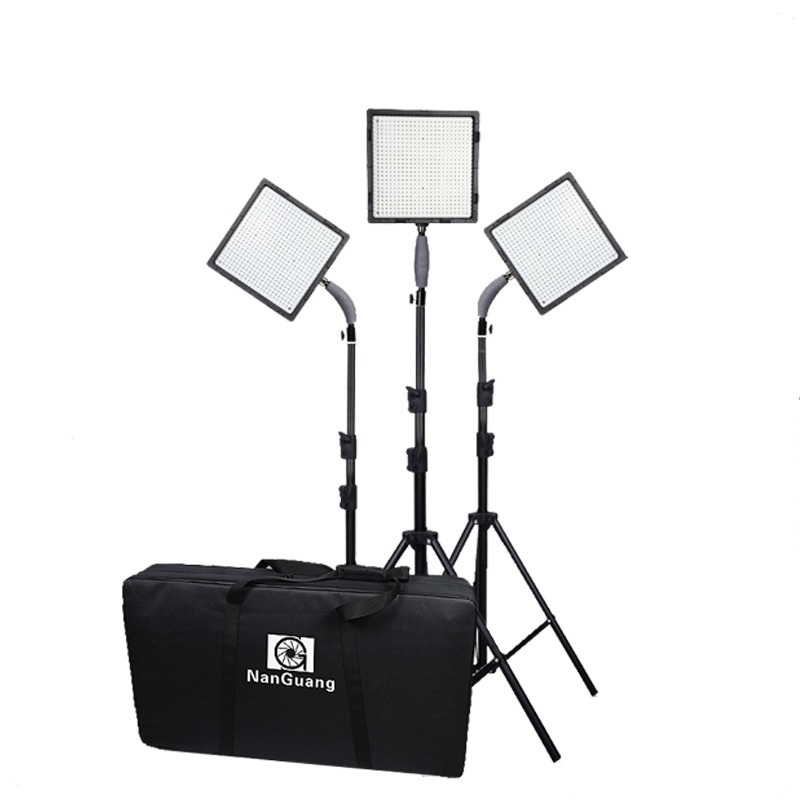 CN-576 Photography Video Camera Light Kit with 576pcs LED Beads 5600K/3200K LED Light + Adapter+Light Stand+Filters+Storage Bag nanguang cn r640 cn r640 photography video studio 640 led continuous ring light 5600k day lighting led video light with tripod