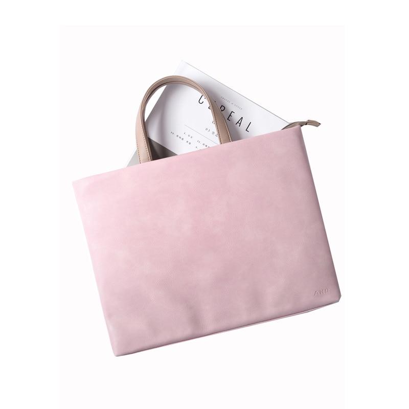 Notebook bag 14 15 6 inch Waterproof Handbag Women Briefcase Notebook Totes for Apple Macbook Pro