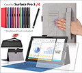 Surface Pro 3/4 case,leather case cover for Microsoft Surface Pro 4 1set/lot+screen protector film+stylus pen 11colors free ship