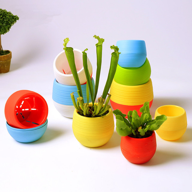 Wcic Flowerpot 7x6 5cm Mini Decorative Flower Plant Nursery Pot For Succulent Home Office Decor