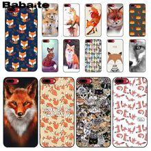 Мягкий силиконовый черный чехол для телефона Babaite с изображением милых животных лисы кошки для iPhone 8 7 6 6S Plus 5 5S SE XR X XS MAX Coque Shell