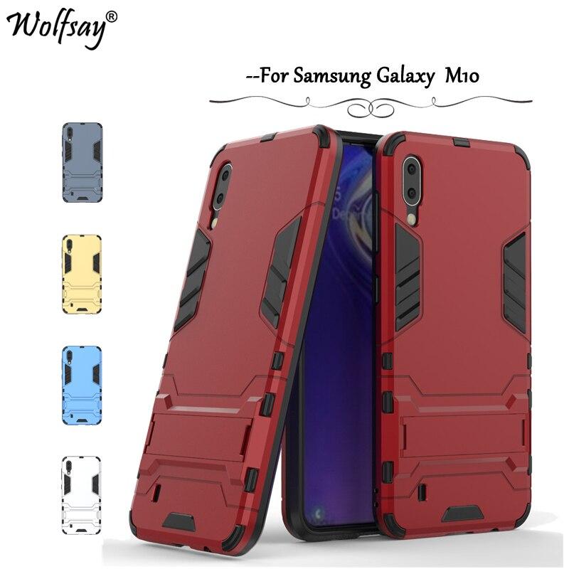 For Samsung Galaxy M10 Case Armor Rubber Slim Hard Back Phone Case For Samsung Galaxy M10 Silicone Cover For Samsung M10 Fundas