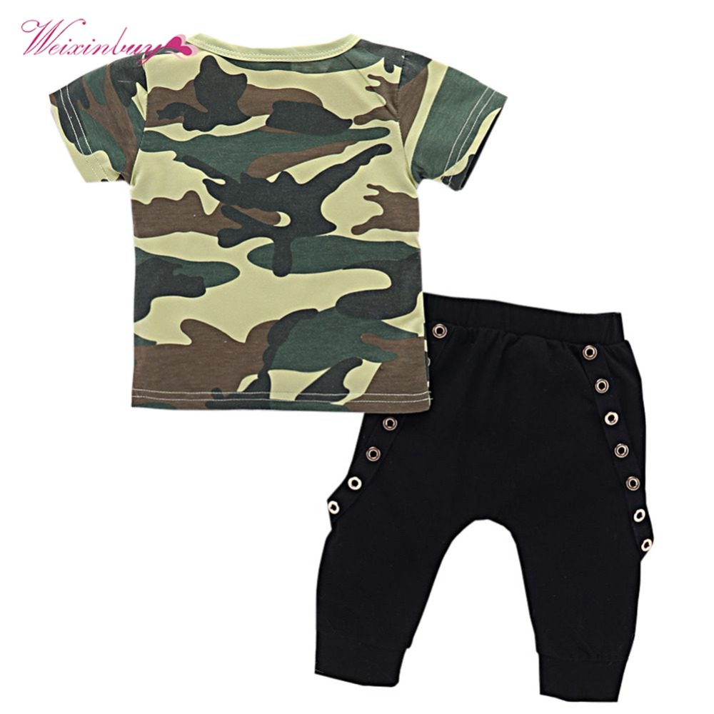 a7cfc91c4 Casual Baby Boy Clothes Newborn Infant Letter Tattoo T shirt Cotton ...
