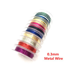 10m 0 3mm Soft Sturdy Alloy Copper Wire DIY Craft Beading Wire Jewelry Making Cord String Accessories cheap ROSYYQHH Cords Metal Zinc Alloy 0 03cm 0 03inch 1000cm Jewelry Findings About 10 metre