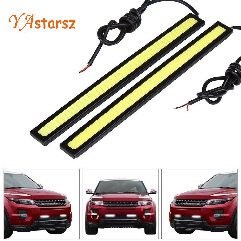 Car styling 1Pcs Car led Ultra Bright LED Daytime Running lights DC 12V 14cm 100% Waterproof Auto Car DRL COB Driving Fog lamp