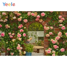 Yeele Wedding Ceremony Flower Love Patio Wallpaper Photography Backdrops Personalized Photographic Backgrounds For Photo Studio