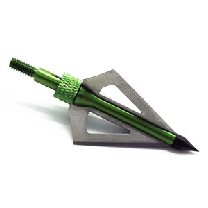 Image 5 - Wholesale 300pcs Hunting Arrow Head 100 grain Broadhead Archery  Stainless Steel 3 blades five color can to be choose