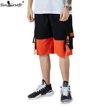 Tooling Shorts Summer Men 2019 Casual Cotton Wide Leg Trend Stitching New Hot Sale Loose Large Size Mens Clothing