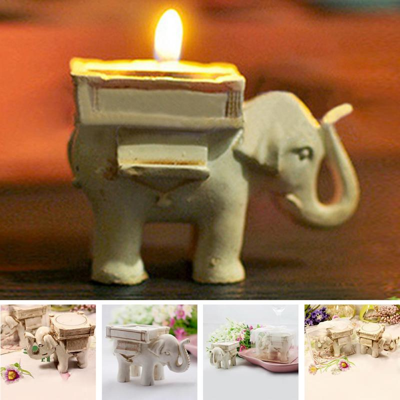 Lucky Elephant Tea Light Candle Holder Candlestick Wedding Favor For