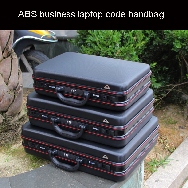Aluminium Toolbox Abs Tool Case Aluminum Frame Business Laptop Bag Advisory Suitcase Man Portable Suitcase Briefcase Handbag Box