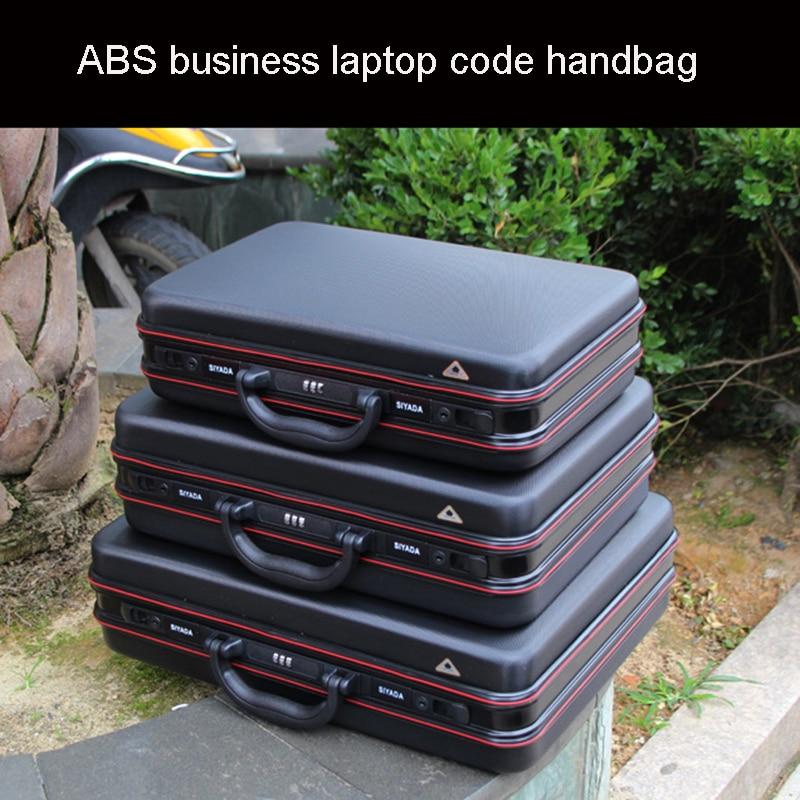 Aluminium Toolbox Abs Tool Case Aluminum Frame Business Laptop Bag Advisory Suitcase Man Portable Suitcase Briefcase Handbag Box