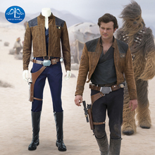 MANLUYUNXIAO New 2018 Movie Solo: A Star Wars Story Cosplay Costume Men Han Sole Cosplay Costume For Adult Full Set Custom Made tekken steve fox cosplay costume adult costume full set custom made