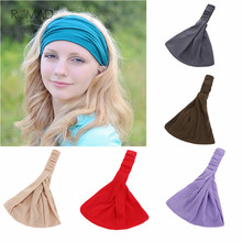 цены Romad Female Elastic Sports Wide Hair Band Outdoor Running Headscarf Casual Yoga Headband For Women