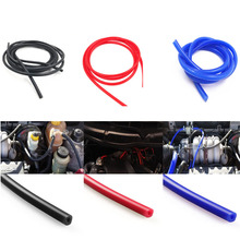 Universal 1M 3mm/4mm/6mm/8mm Silicone Vacuum Tube Hose Silicon Tubing Blue Black Red Yellow Car Accessories