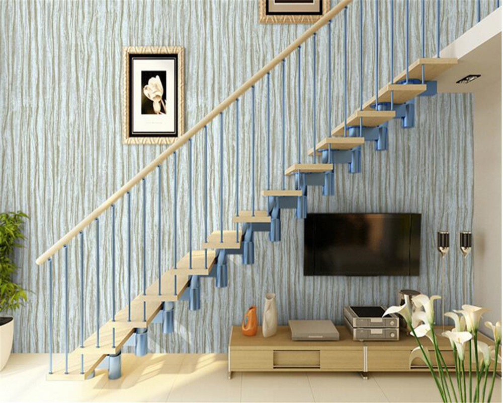 beibehang 2017 Modern simple fashion personality plain wood pattern nonwoven home improvement works papel de parede 3d wallpaper
