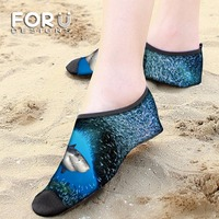 FORUDESIGNS Dolphin Ankle Socks Swimming Fins Diving Socks Non Slip Beach Shoes Quick Dry Snorkeling Boots